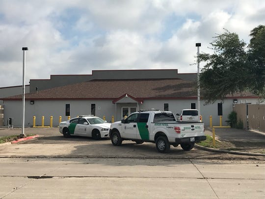 Outside the Border Patrol processing center in McAllen,
