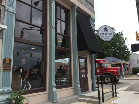 American restaurant Grindstone Public House opens in early July 2018 in downtown Noblesville.