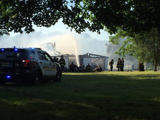 Authorities respond to fire on Cedar Swamp Road in Jackson