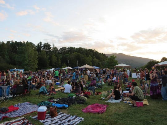 An outdoor event at Willow Farm in Johnson, Vermont,