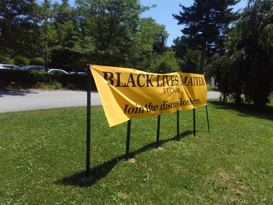 This Black Lives Matter sign on the lawn of the Unitarian