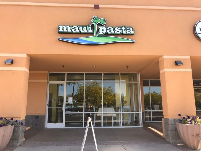 The exterior of Maui Pasta in Scottsdale.