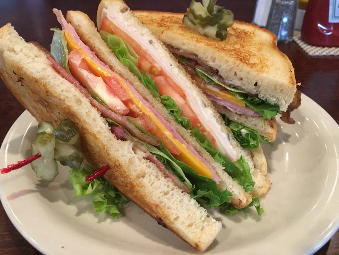 Club sandwich at The River's Edge Grill