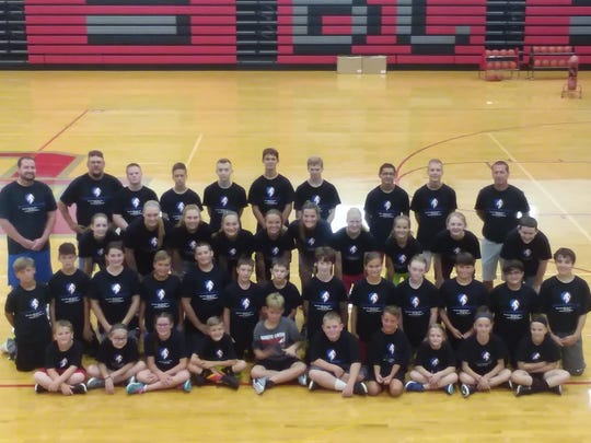 The Buckeye Central coaches and players at the Next Level Basketball 419 camp.