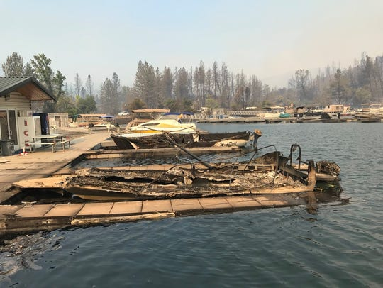 The Carr Fire has destroyed some 40 boats at Oak Bottom