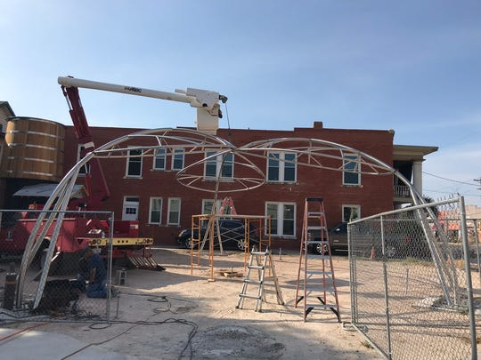 The Heritage Park construction site on July 26, 2018 in downtown San Angelo.