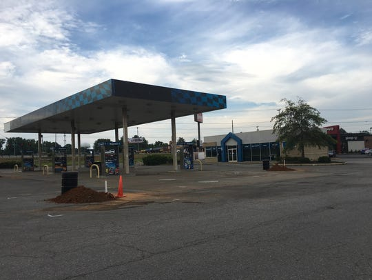 The site of an old fuel station fronting the former