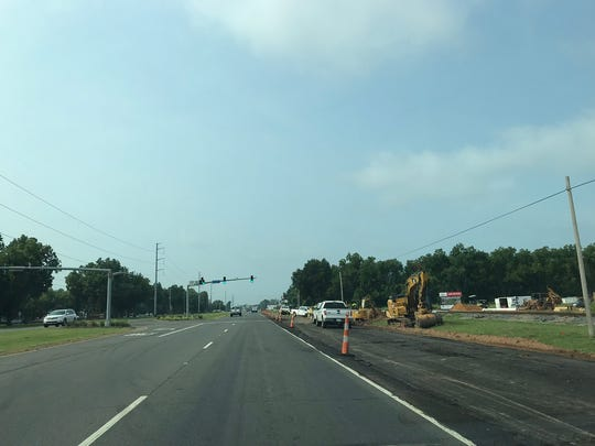 New turn lanes are one of several enhancements continuing