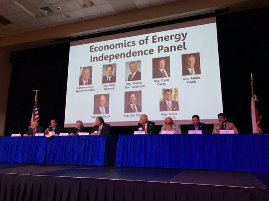 Panel members discuss energy during the 2018 West Texas Legislative Summit in San Angelo. This year's summit will focus on international trade.