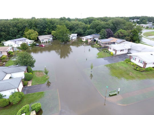 Heavy rains and flooding forced evacuations at 105
