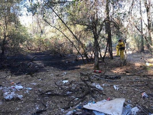 Spot fire put out