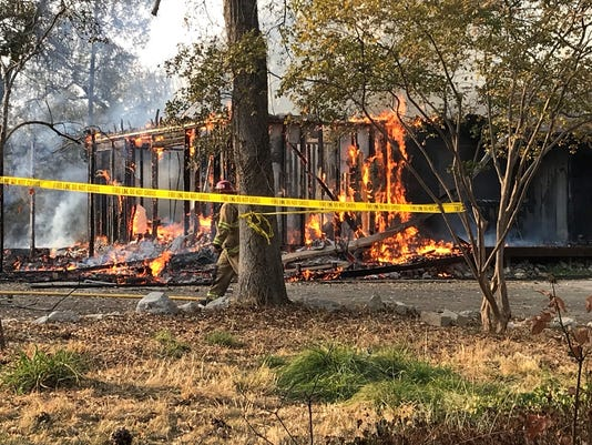 Residential fire north of Redding
