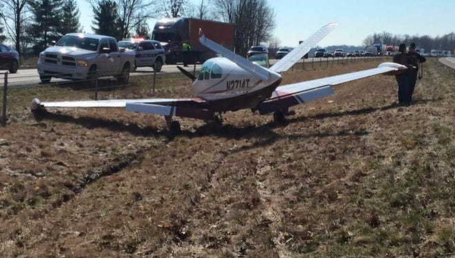 A Carmel man landed his 1967 Beechcraft Bonanza on I-65, between Seymour and Crothersville, on Saturday, Feb. 27, 2016, after the plane had mechanical issues. No one was injured in the emergency landing.