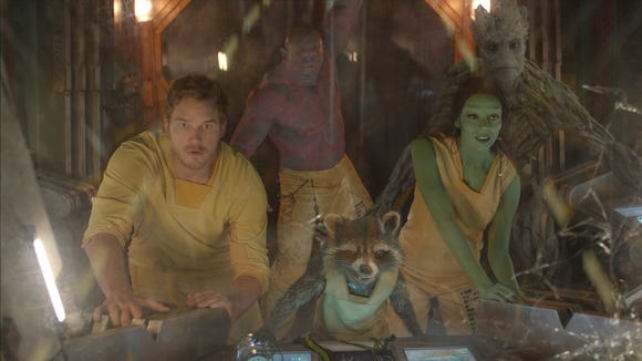 "The not-quite-Avengers-yet crew has to save the universe in ""Guardians of the Galaxy."""