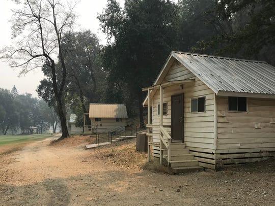 Several of the cabins at Whiskeytown Environmental