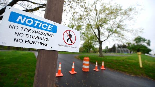 Landowner Talen Energy has placed no-trespassing signs