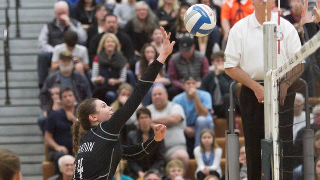 Brighton freshman Celia Cullen had 13 kills and nine assists in a regional semifinal loss to Farmington Hills Mercy.
