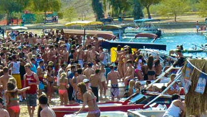 Lake Havasu City, Ariz.,  is a top place for boating during Memorial Day weekend.