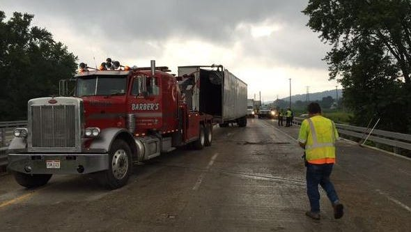 Crews are still cleaning up after a semi carrying recycled plastic went off US 33 early Friday morning.