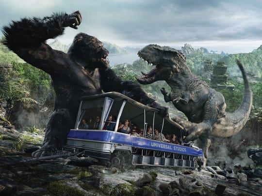 King Kong 360 3D ride at Universal Studios Hollywood.