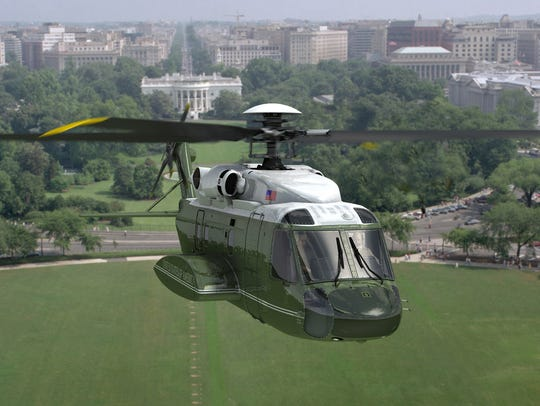 A rendering of the Sikorsky-Lockheed Martin presidential