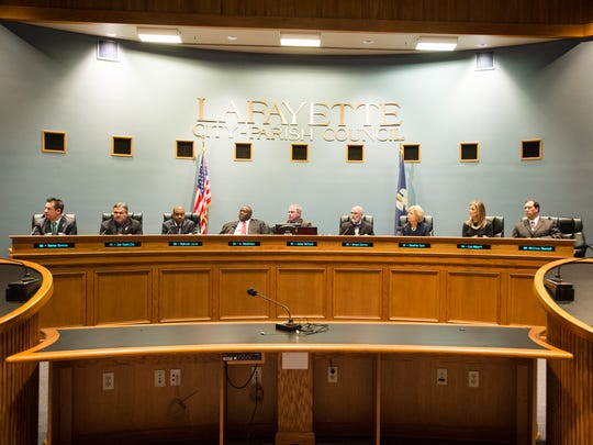 Lafayette City-Parish Council men and women are shown in this file photo from Jan. 4, 2016, the day they took office.