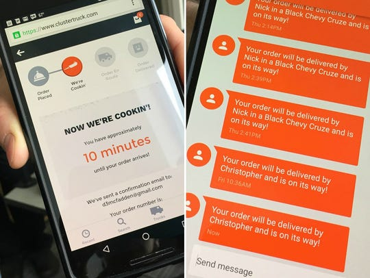 Clustertruck's free app tells you how long before a