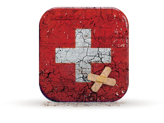 Vector image of first aid icon