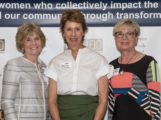 Suzanne Bertman, 10th anniversary sponsor and founding member Dace Stubbs and Judy Peschio.