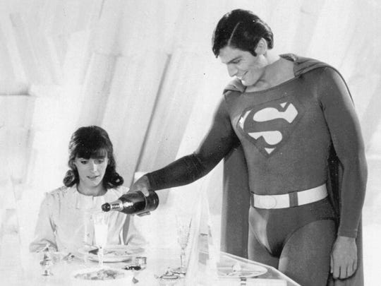 Margot Kidder in her role as Lois Lane shares an intimate