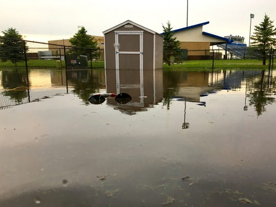 Several residences have experienced flooded basements