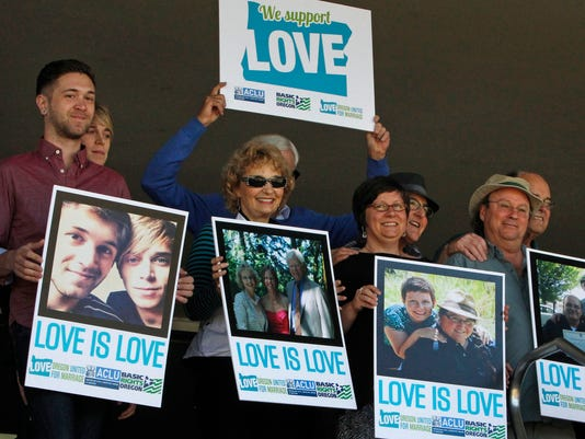 Supporters of same-sex marriage