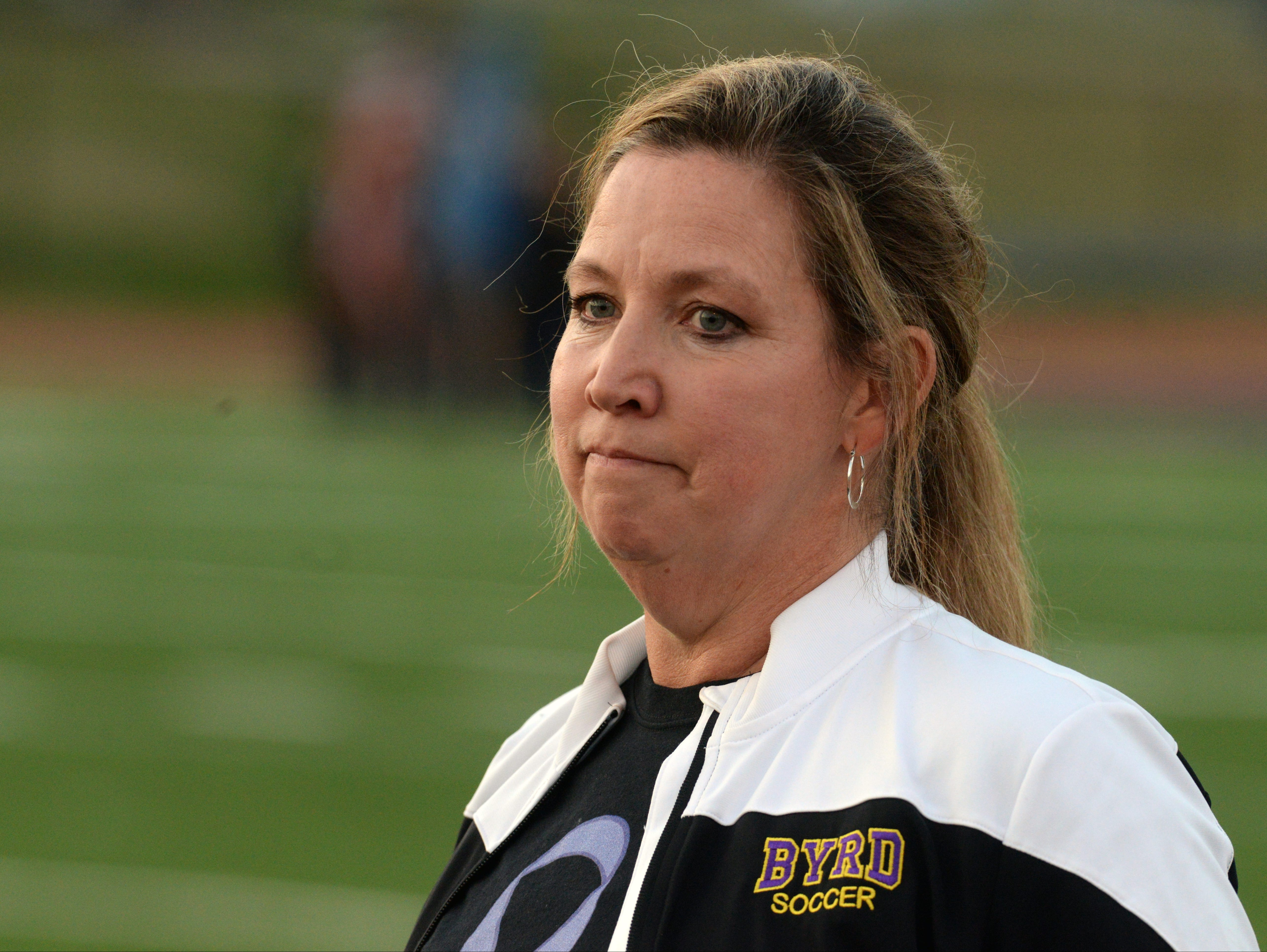 Byrd head coach Lisa Levermann and the Lady Jackets fell in Friday's state semifinal game.