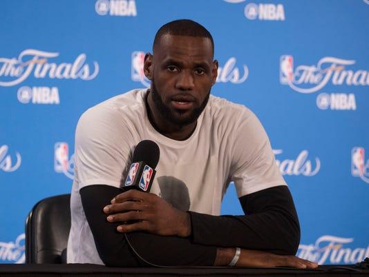 USP NBA: FINALS-MEDIA DAY S BKN USA CA