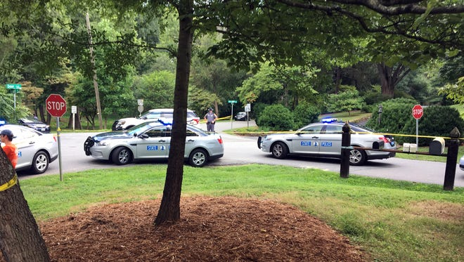 Police respond to a fatal helicopter crash west of Charlottesville.