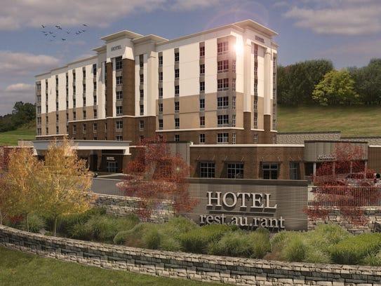 A rendering of the Hampton Inn hotel planned near Skyline