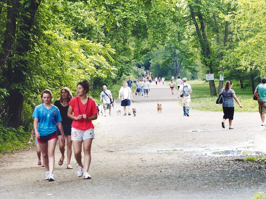 97569 Mahwah NJ  5/27/2012 . Enterprise   Ramapo Valley County Reservation . The trails were crowded with hikers and dogs getting away from the heat