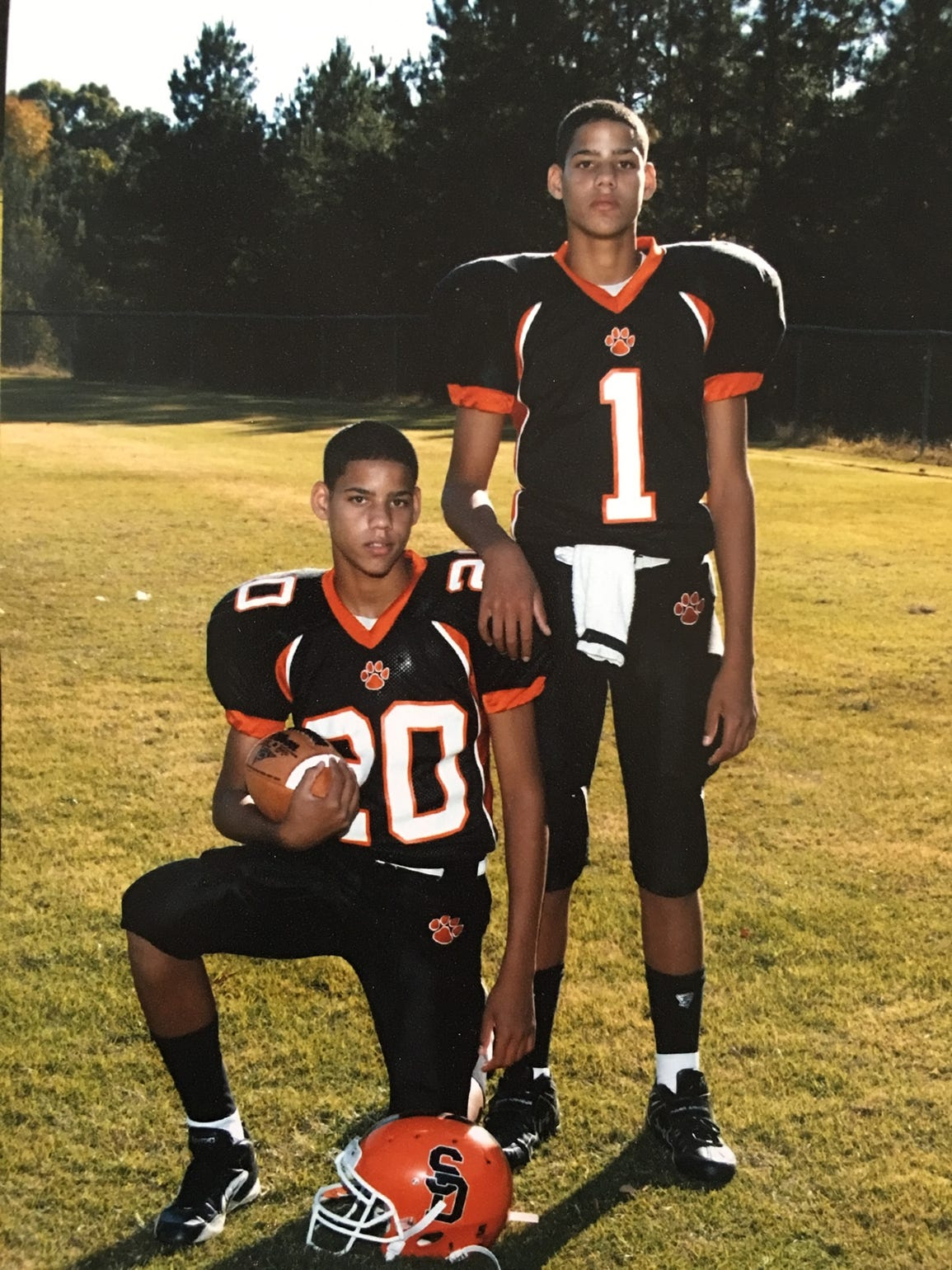 Caleb and Cody Martin excelled in football and baseball,