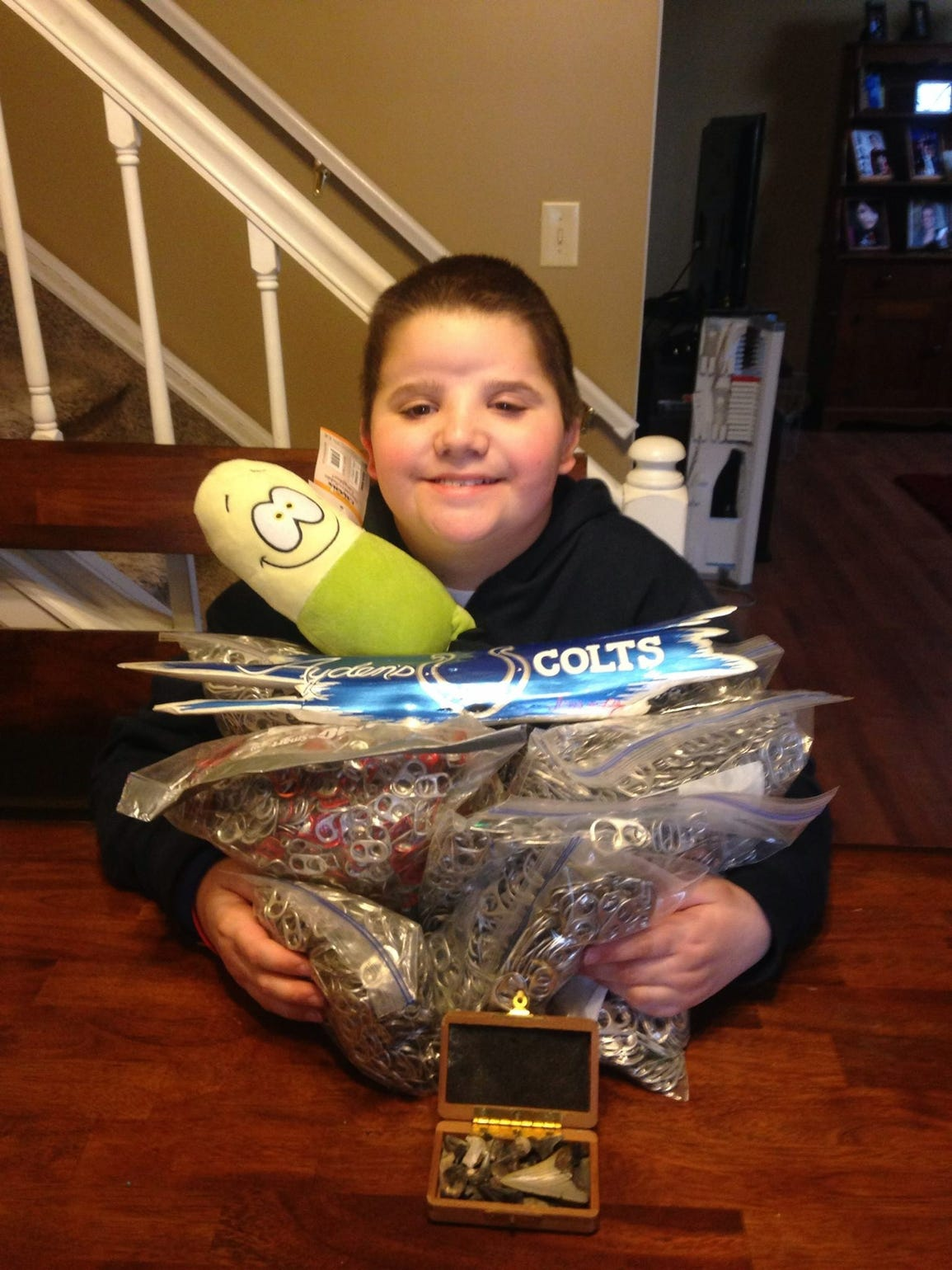 Ayden Moody has collected 800,000 pop can tabs for