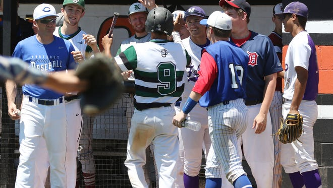GMC Underclassmen Baseball Showcase, an All-Star game featurirng 36 of the league's top high school sophomores and juniors at Middlesex County Vocational and Technical High School's East Brunswick campus on June 12, 2016.