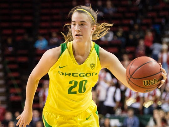 Mar 4, 2018; Seattle, WA, USA; Oregon Ducks guard Sabrina