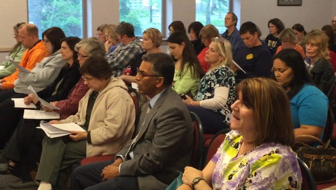 The prospect of about 20 job cuts in Millville public schools next school year drew a crowd to Monday night's Board of Education public hearing on  its 2016-17 preliminary budget. The budget was approved on a 9-1 vote.