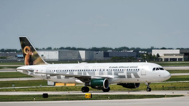 Frontier Airlines has some cheap flights available in and out of Indianapolis.