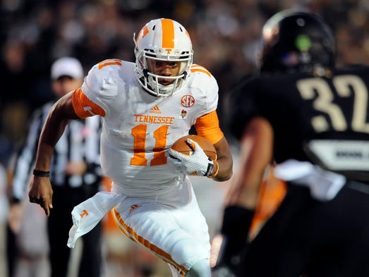 No. 25 Tennessee (Last year: not ranked) (166 points)