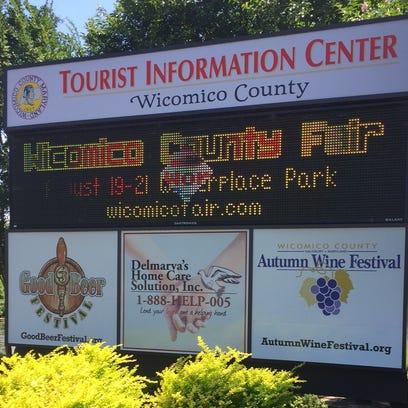 The Wicomico County Tourist Center sign