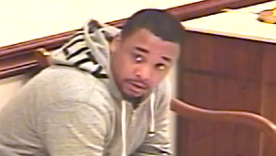 Livonia police are seeking to identify this man, seen on a still from a surveillance camera. Anyone with information can call Detective Richard Burg at 734-466-2339.
