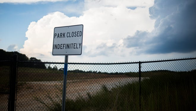 """M.J. """"Dolly"""" Cooper Park, which was locked Tuesday in Powdersville,  has been closed indefinitely."""