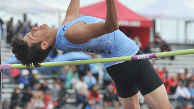 Pueblo West High School's Cisco Padilla clears his first jump on his way to the boys high jump crown last May at the Class 4A State Track and Field Championships at Jeffco Stadium in Lakewood.