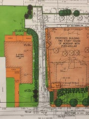 An amended plan, drawn by the congregation's engineer, Paramus-based Lapatka Associates Inc., shows more room for parking spots behind the proposed synagogue than was previously provided.