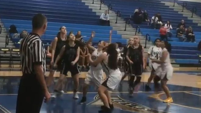 Shadow Mountain and Cactus Shadows girls basketball played a game of 4-on-4 on Thursday, Jan. 18, 2018.